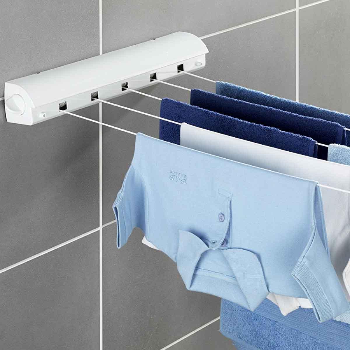 séchoir enrouleur pour salle de bains